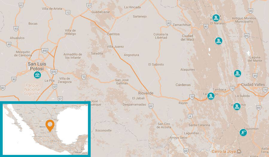 Mappa Huesteca Potosina Un passo verso il mondo